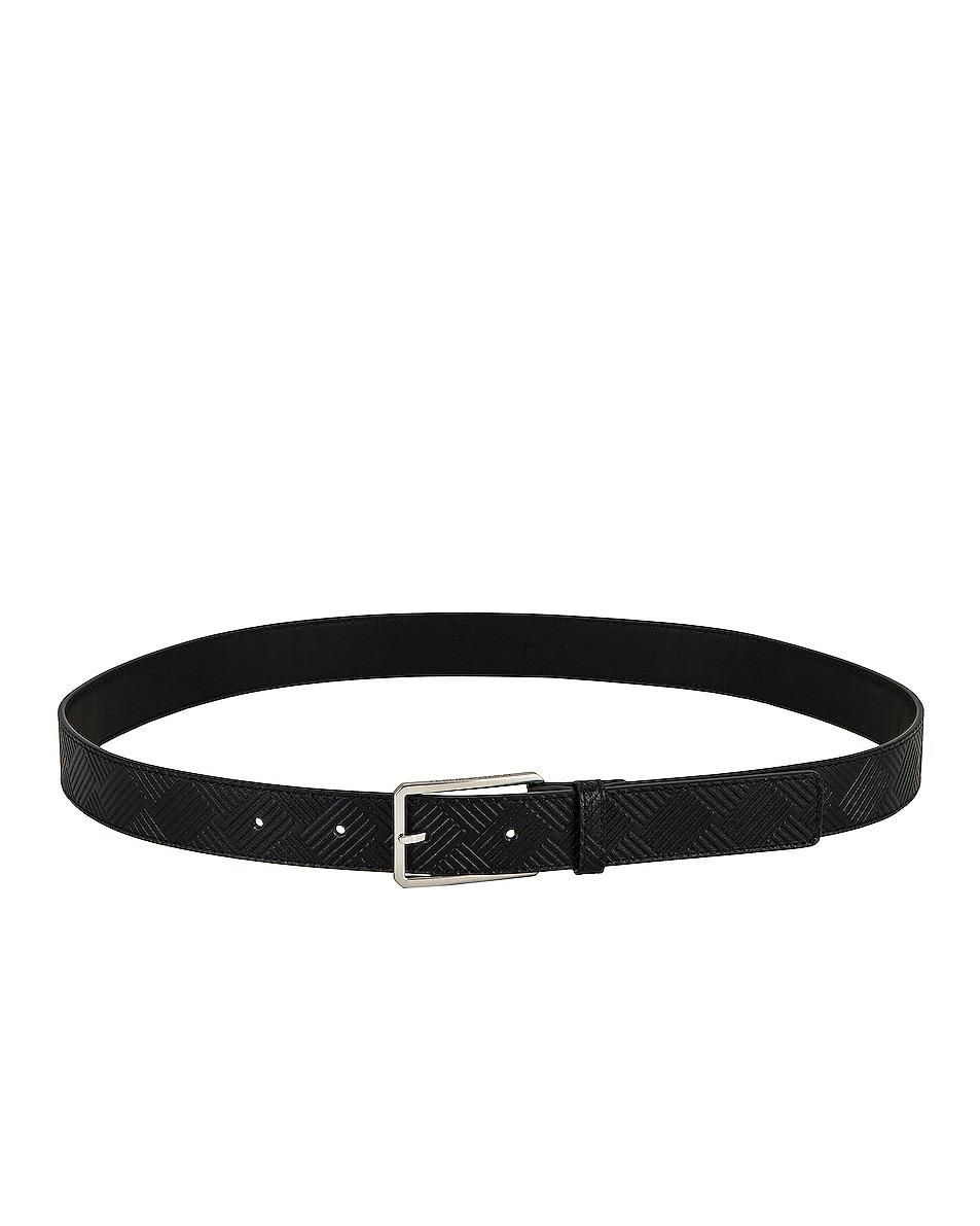 Image 1 of Bottega Veneta Belt in Black in Black & Silver