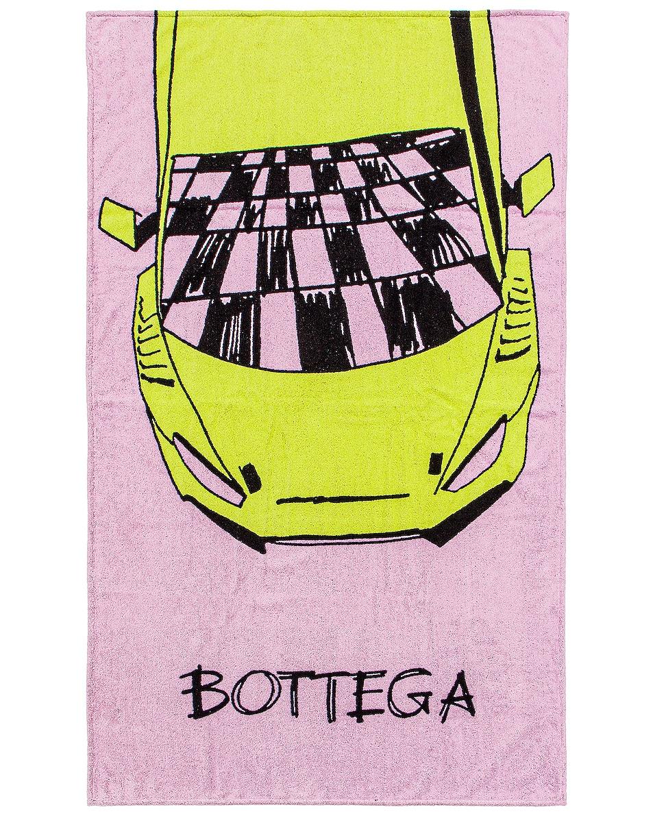 Image 1 of Bottega Veneta Beach Towel in Thistle & Seagrass