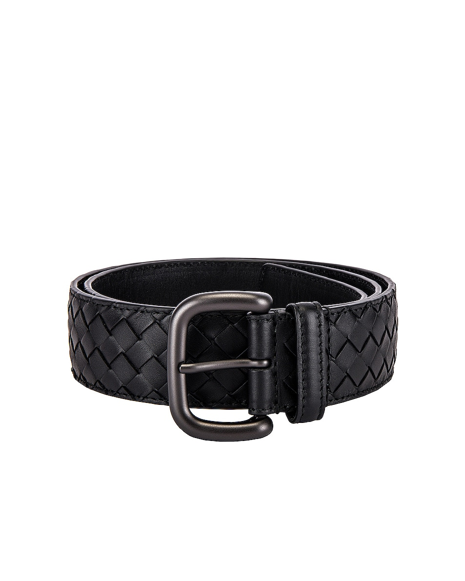 Image 1 of Bottega Veneta Braided Belt in Black