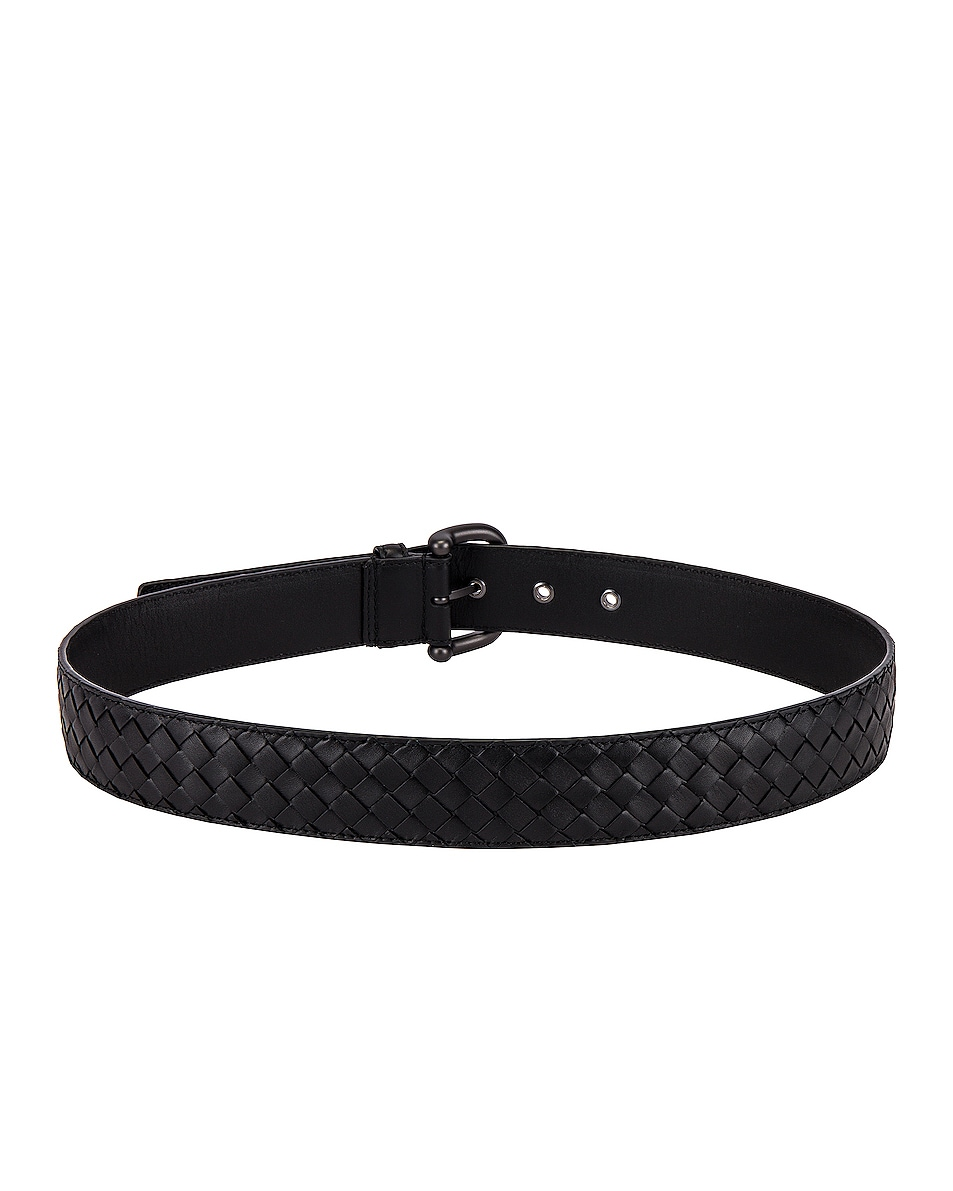 Image 3 of Bottega Veneta Braided Belt in Black