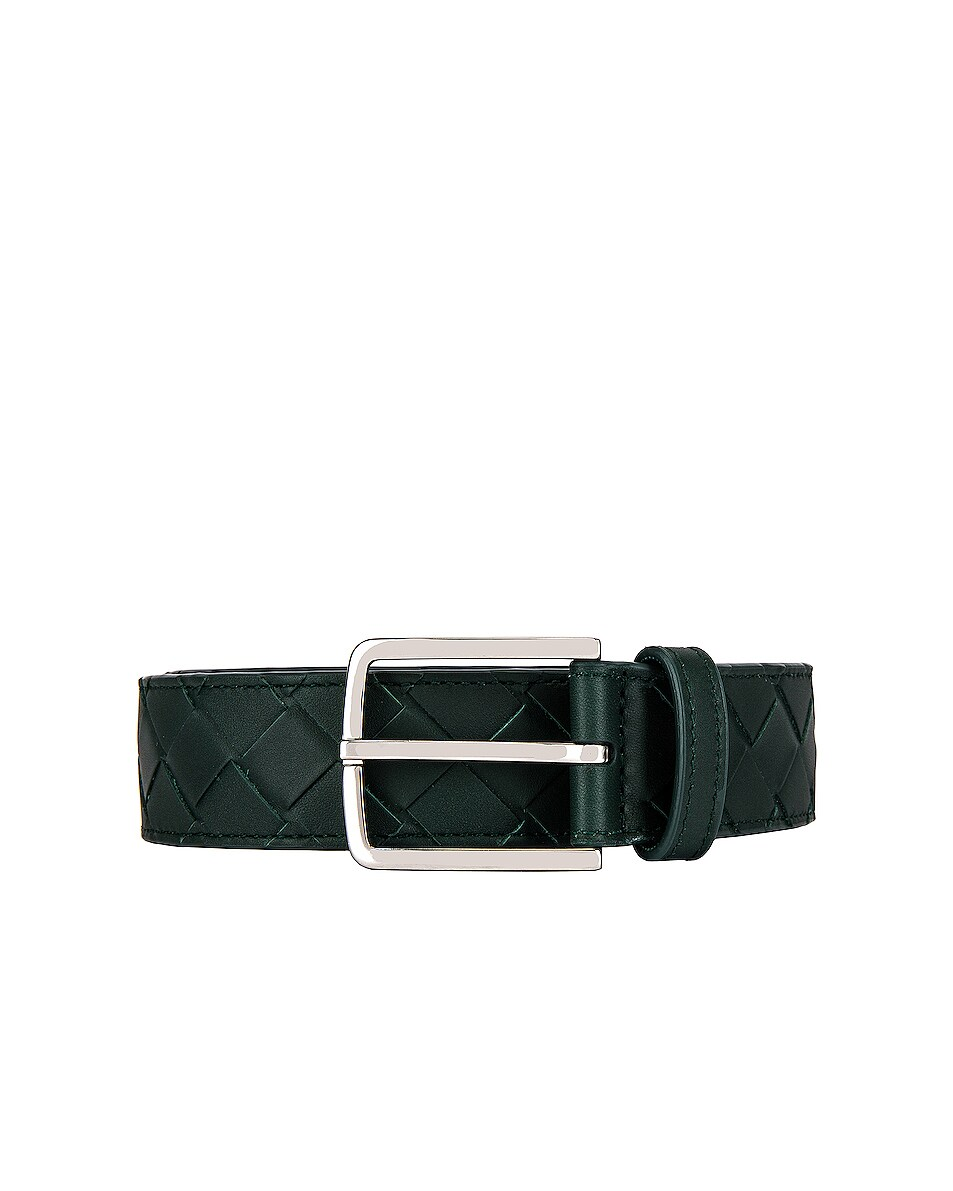 Image 1 of Bottega Veneta Belt in Pine Green