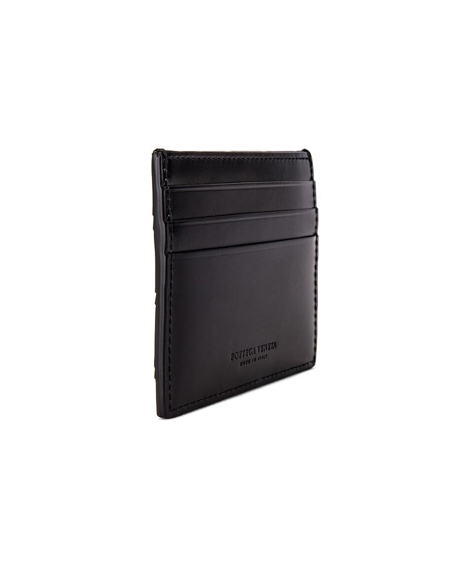 Image 3 of Bottega Veneta Cardholder in Black & Black & Silver