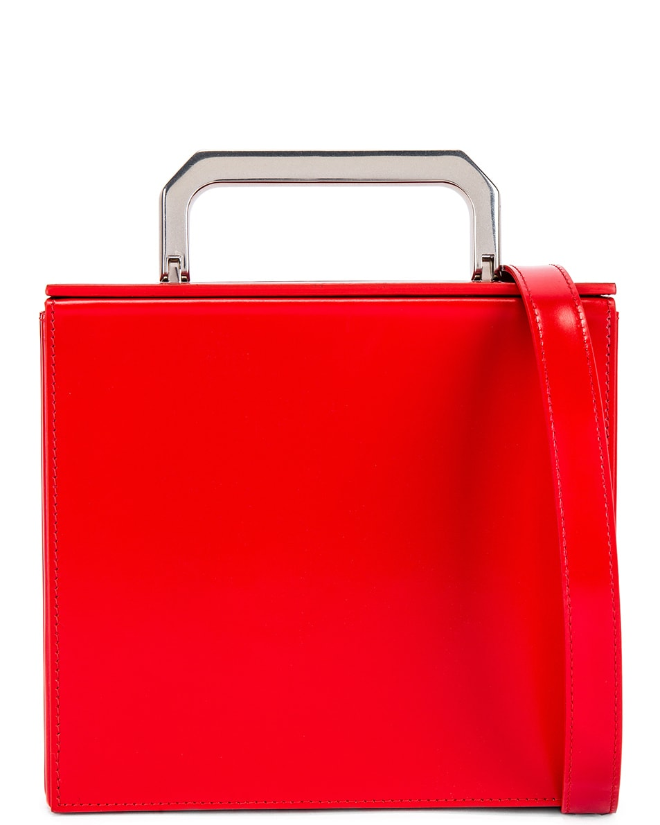 Image 1 of Bottega Veneta Messenger Bag in Bright Red