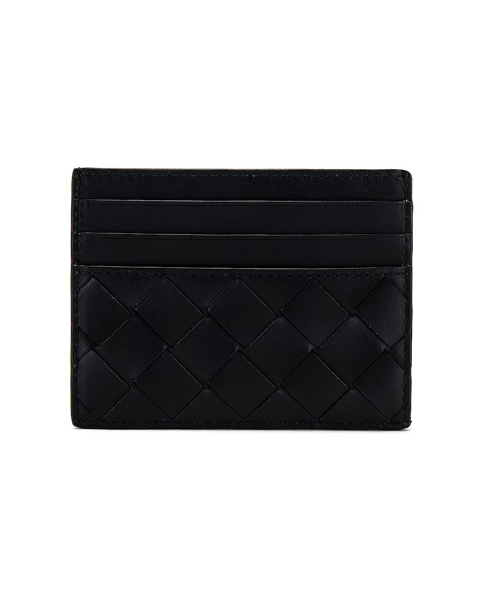 Image 1 of Bottega Veneta Cardholder in Black & Silver