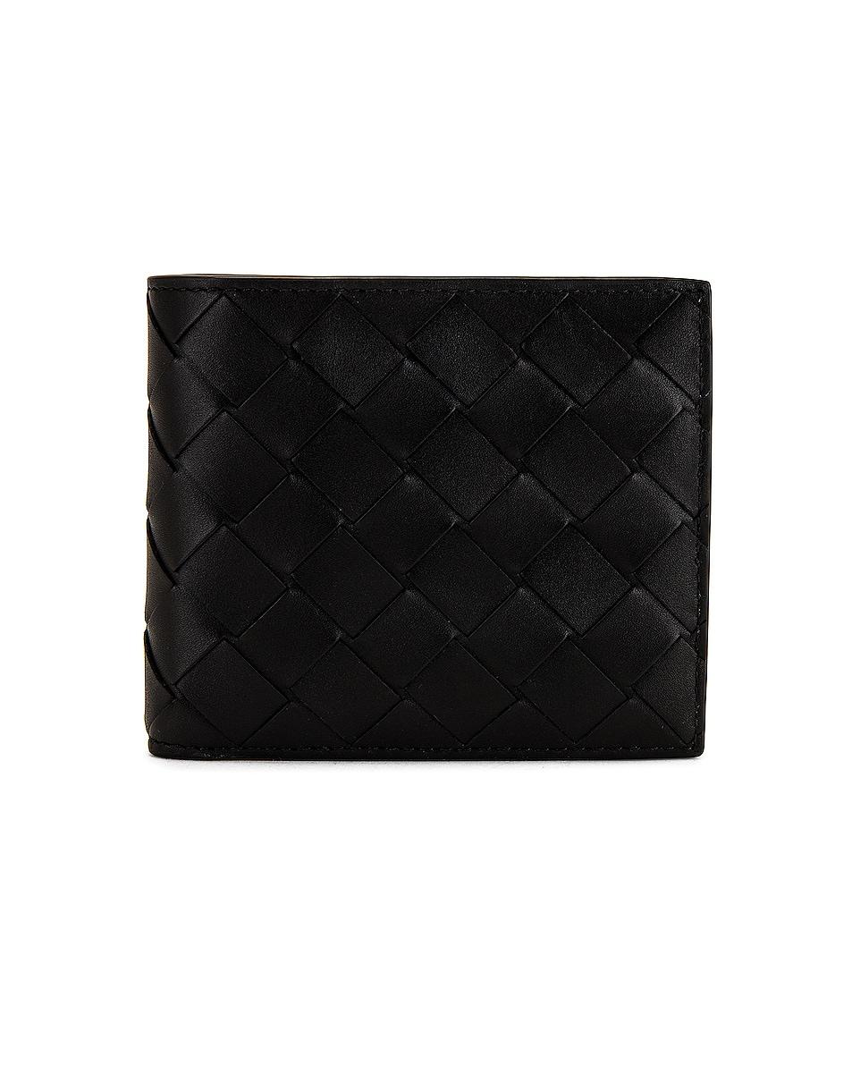 Image 1 of Bottega Veneta Wallet in Black & Silver