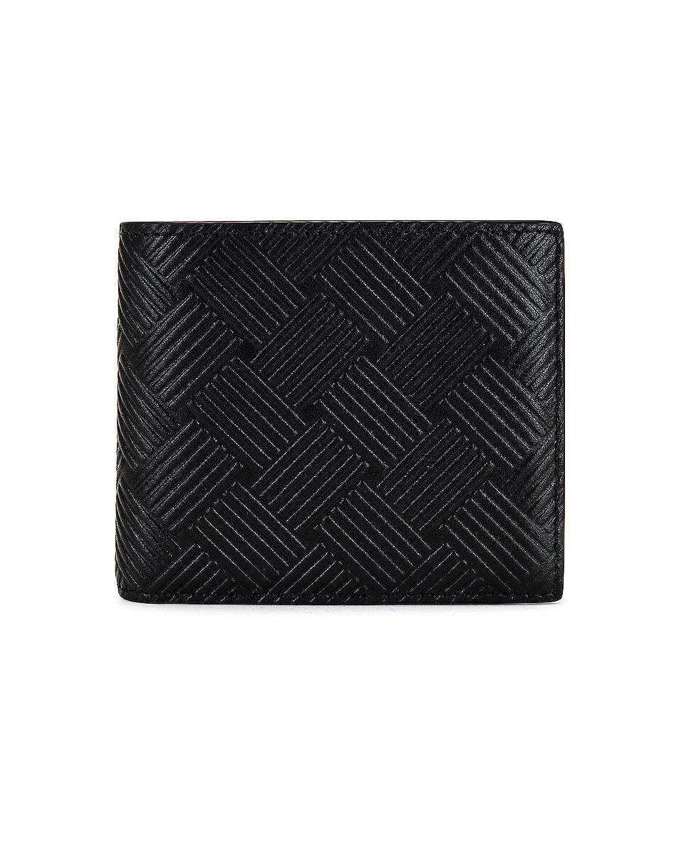 Image 1 of Bottega Veneta Billfold Wallet in Black & Silver