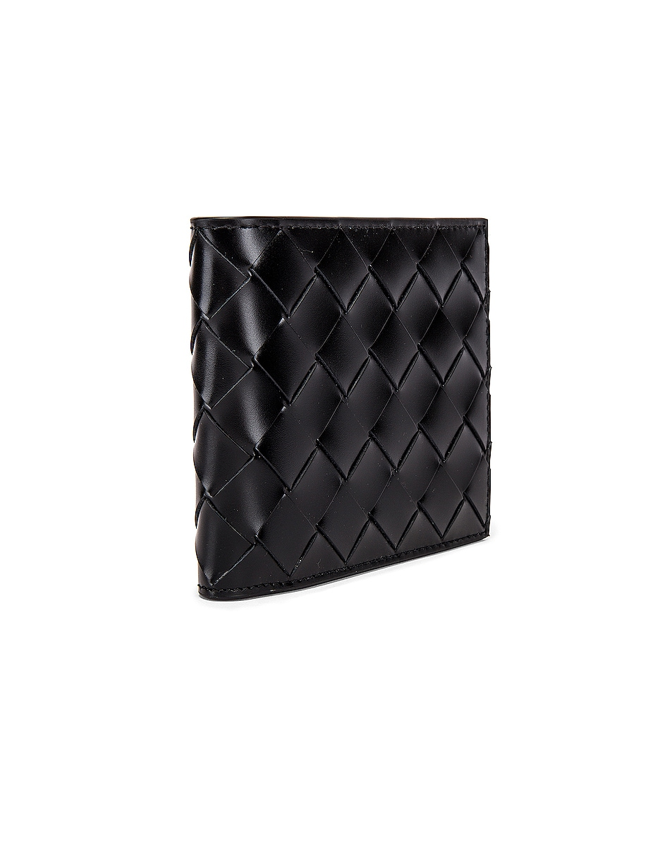 Image 3 of Bottega Veneta Billfold Wallet in Black