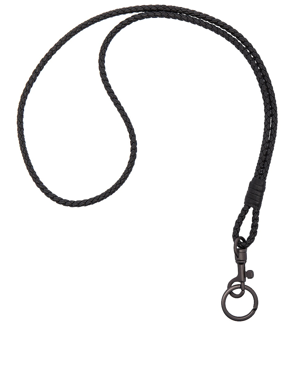 Image 1 of Bottega Veneta Knot Key Ring in Nero
