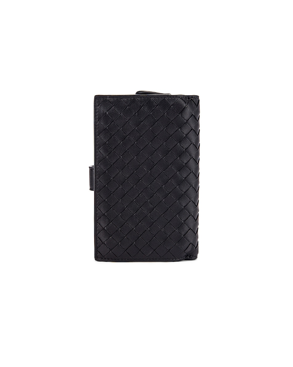 Image 2 of Bottega Veneta Leather Wallet in Black