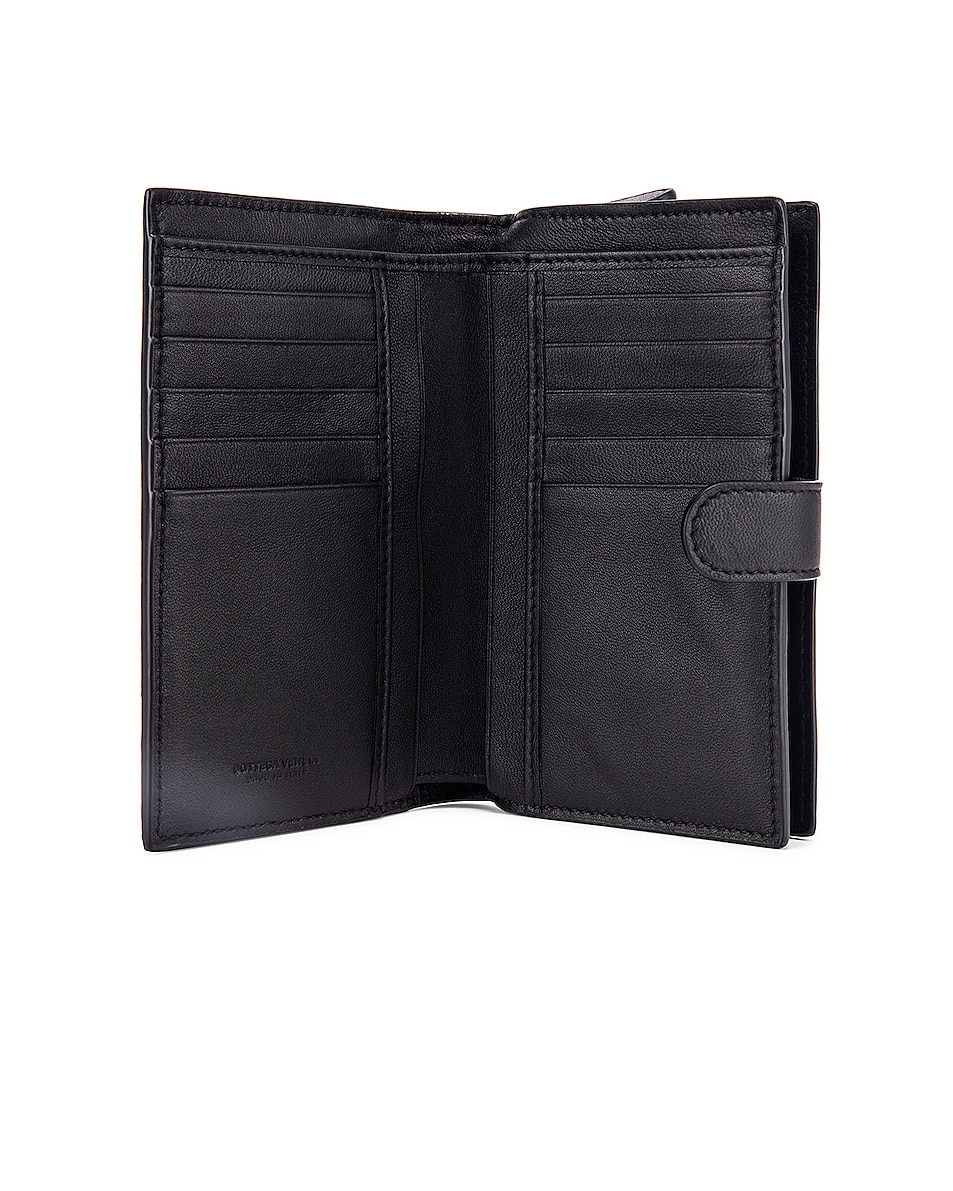 Image 4 of Bottega Veneta Leather Wallet in Black