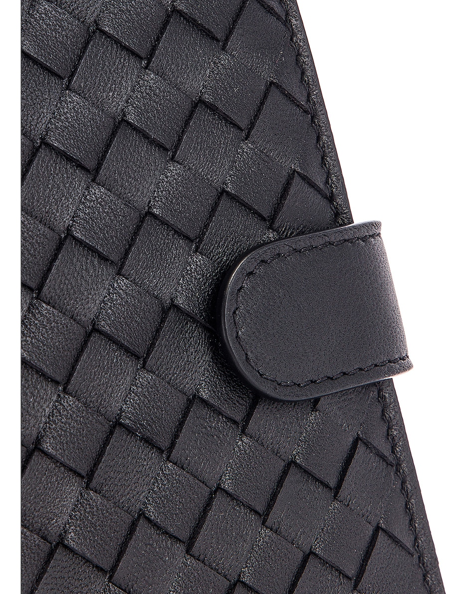 Image 6 of Bottega Veneta Leather Wallet in Black