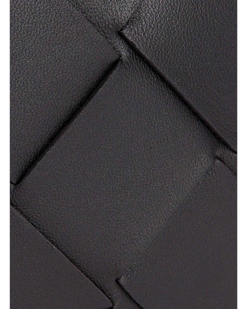 Image 6 of Bottega Veneta Leather Card Case in Black & Silver
