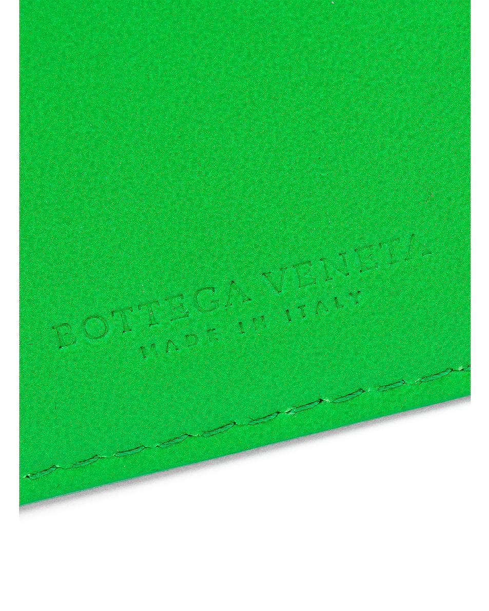 Image 5 of Bottega Veneta Leather Card Case in Grass & Gold
