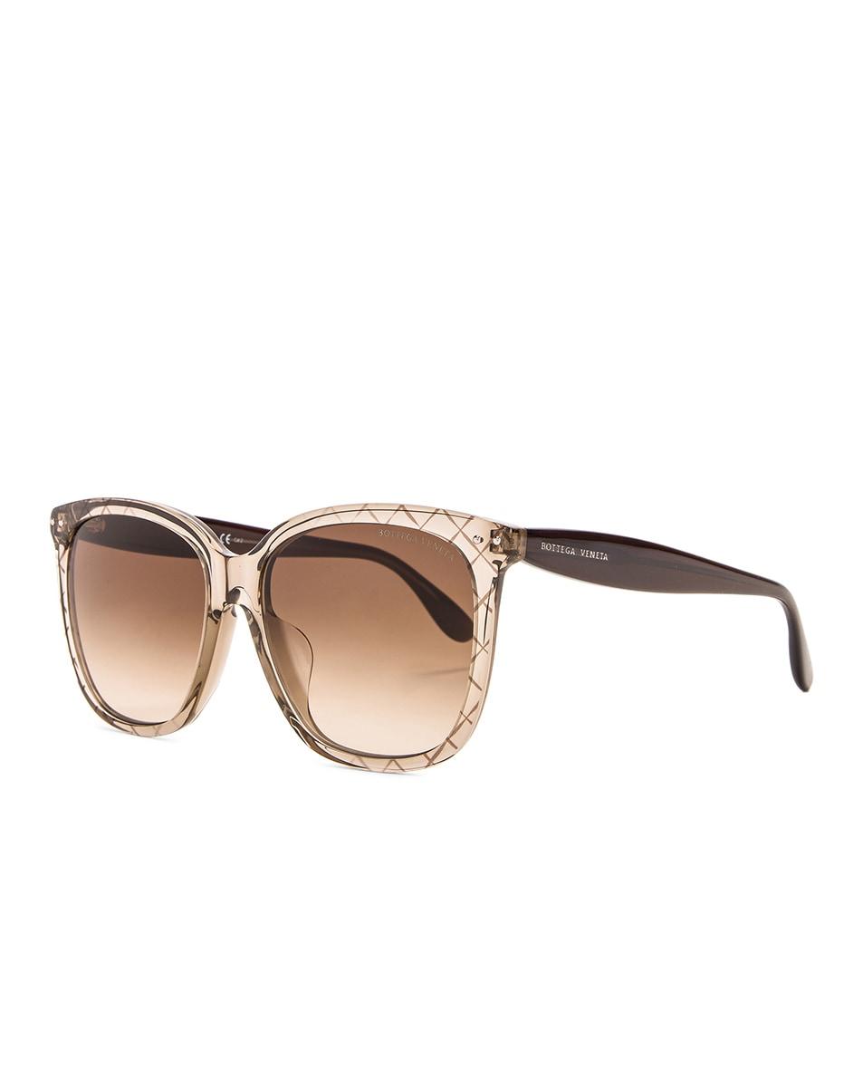 Image 2 of Bottega Veneta Square Sunglasses in Brown