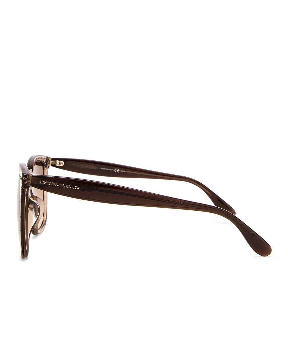 Image 3 of Bottega Veneta Square Sunglasses in Brown
