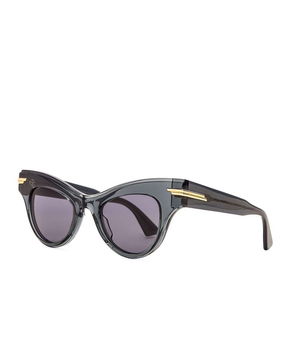 Image 2 of Bottega Veneta Original 04 Cat Eye Sunglasses in Dark Grey