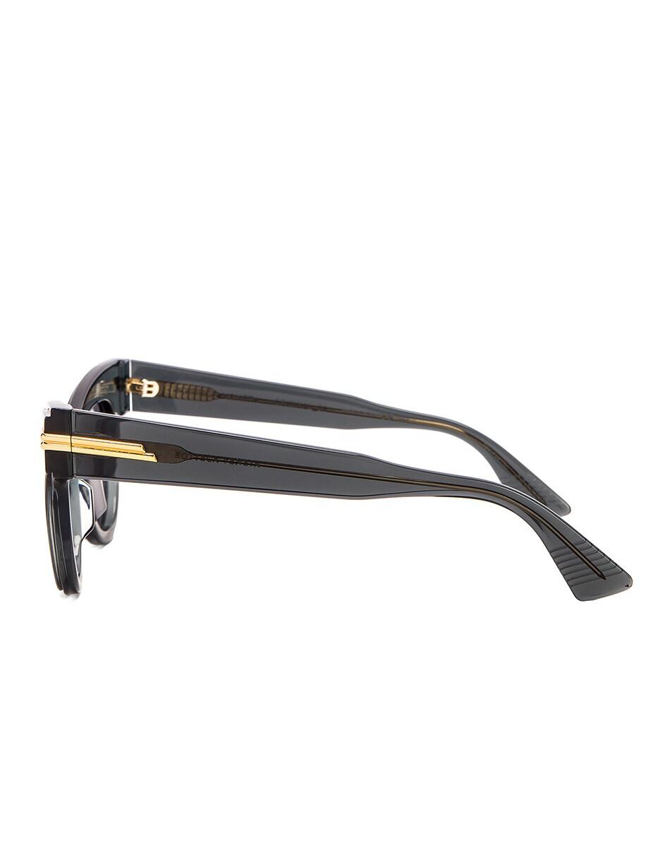 Image 3 of Bottega Veneta Original 04 Cat Eye Sunglasses in Dark Grey