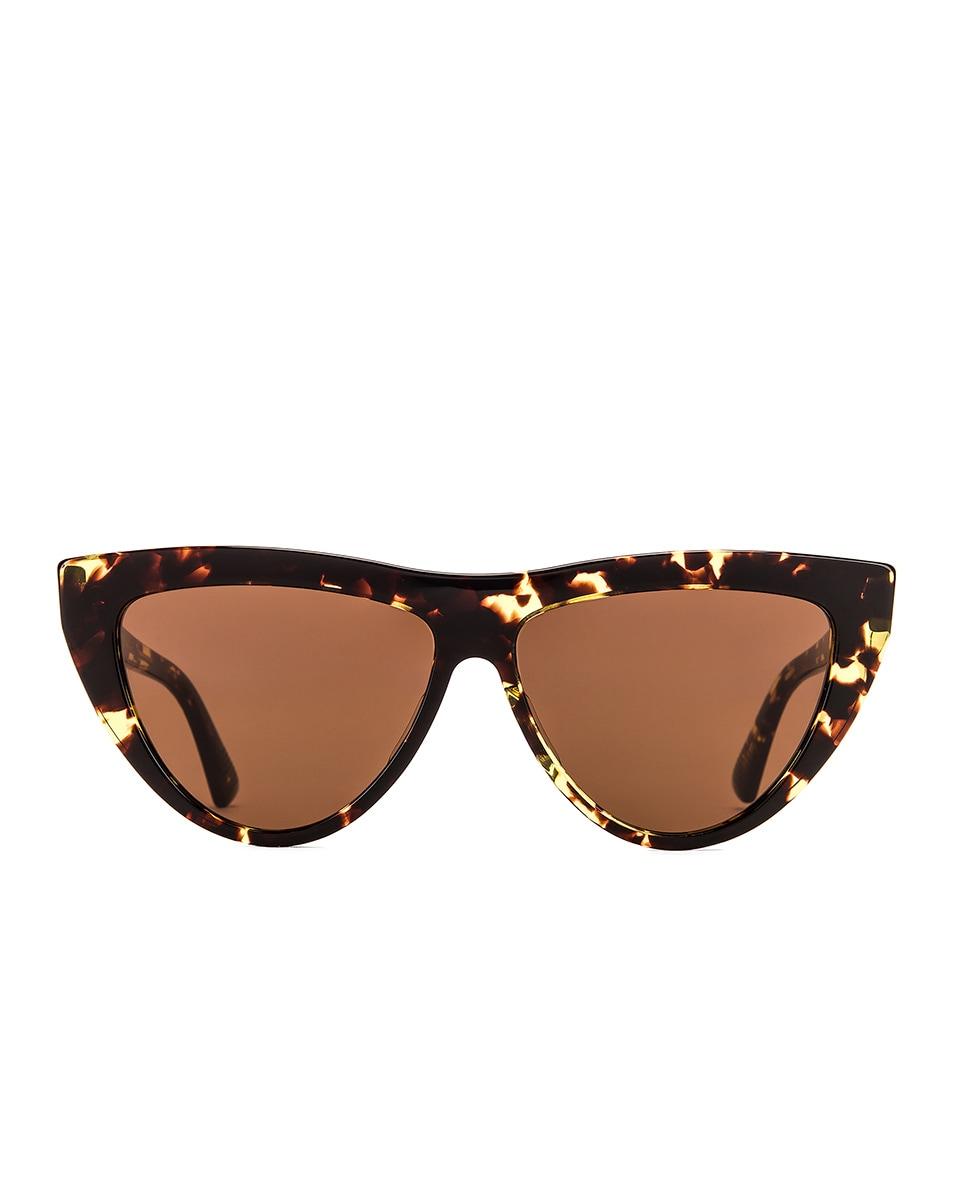 Image 1 of Bottega Veneta New Entry 018 Sunglasses in Havana & Brown
