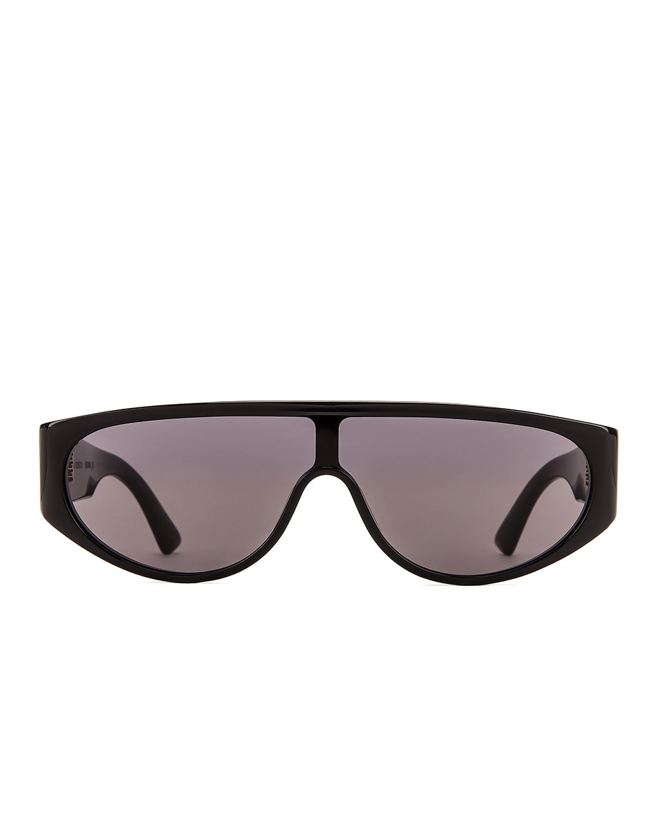 Image 1 of Bottega Veneta Original 027 Mask Sunglasses in Black