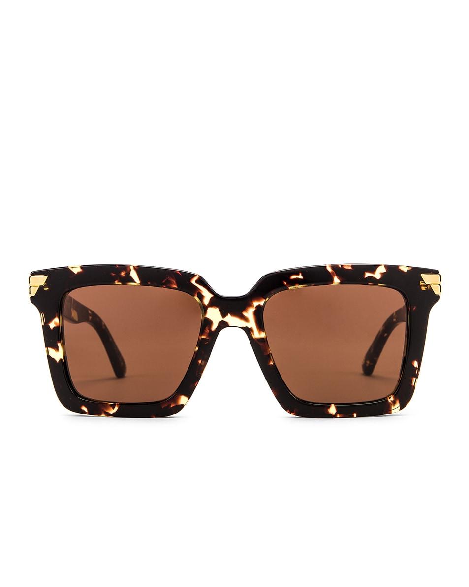 Image 1 of Bottega Veneta Original 05 Oversize Sunglasses in Havana & Brown