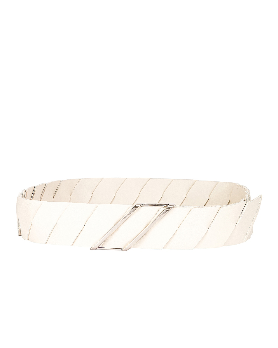 Image 1 of Bottega Veneta Belt in Plaster & Silver