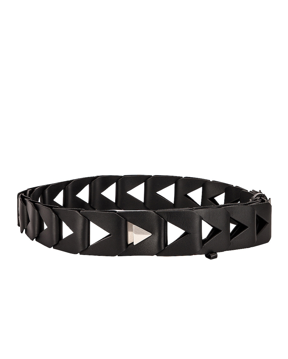 Image 1 of Bottega Veneta Cutout 5cm Belt in Black & Silver