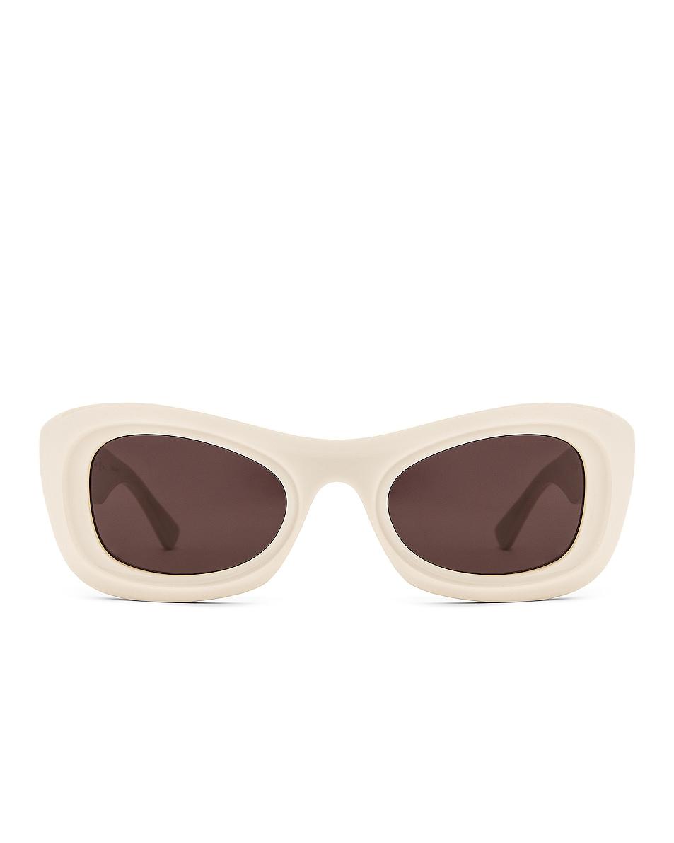 Image 1 of Bottega Veneta Acetate Sunglasses in Ivory