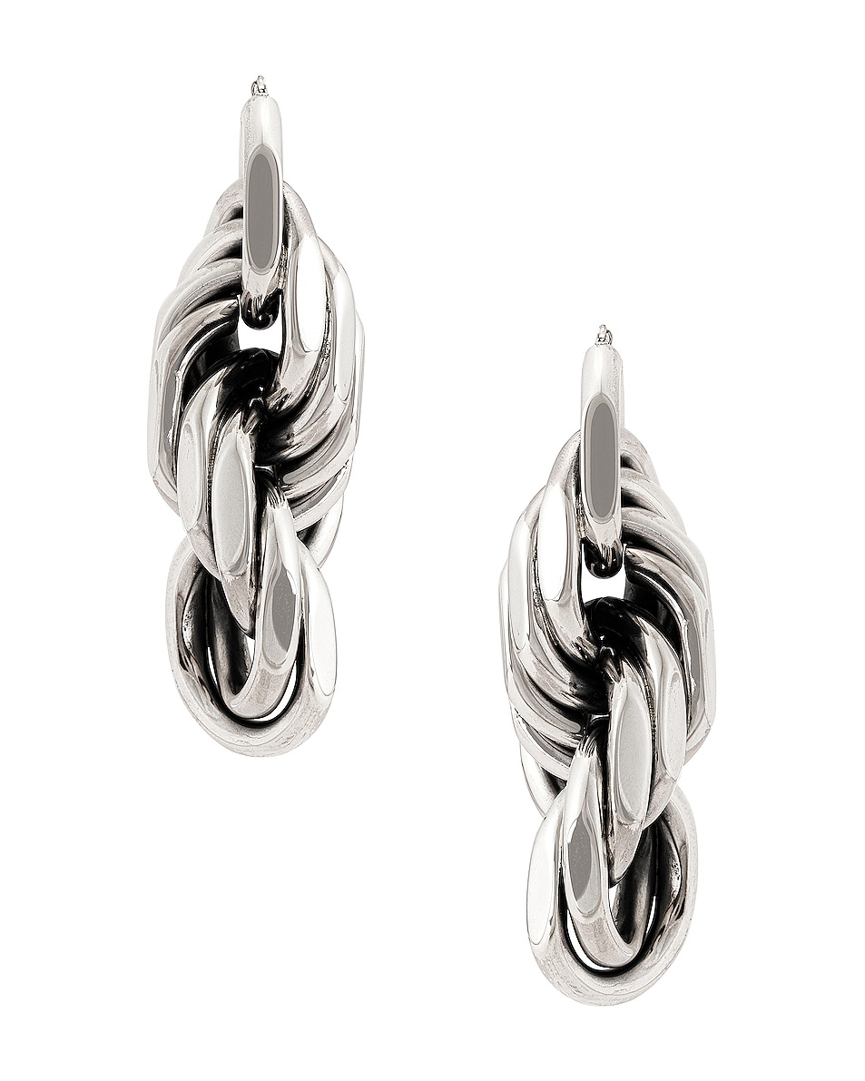 Image 1 of Bottega Veneta Drop Earrings in Argento Antique