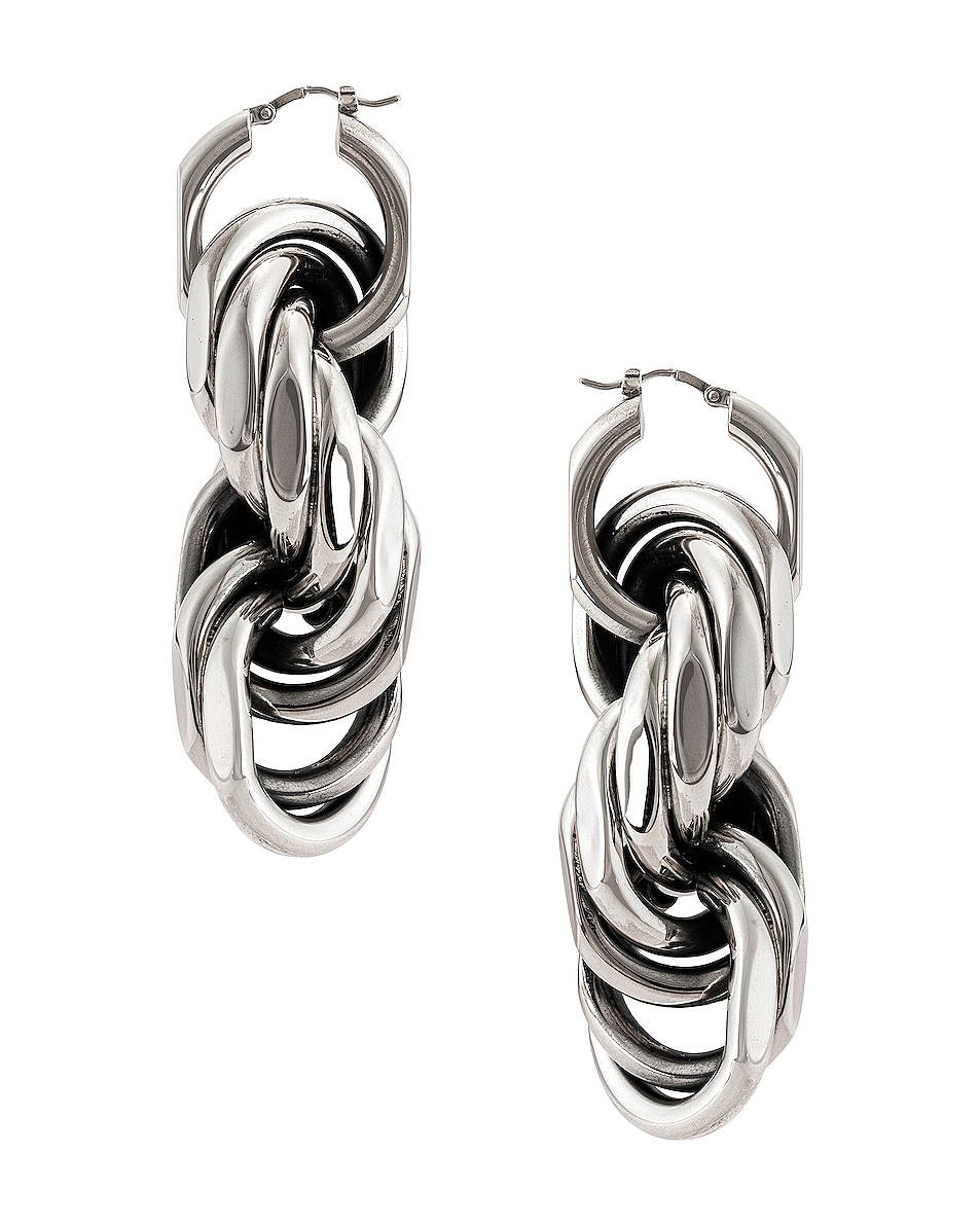 Image 3 of Bottega Veneta Drop Earrings in Argento Antique