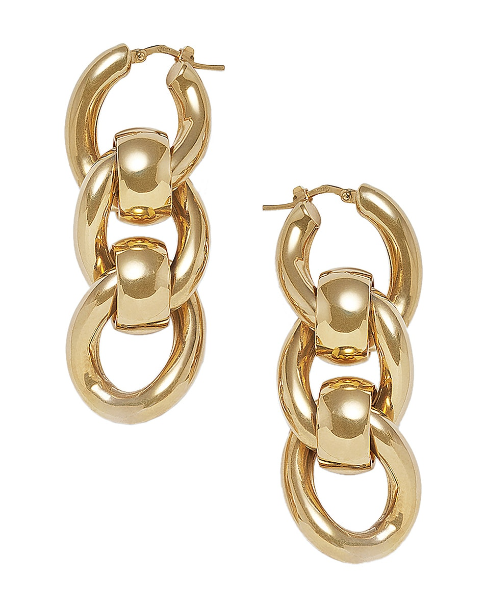 Image 1 of Bottega Veneta Chain Earrings in Argento Oro Giallo