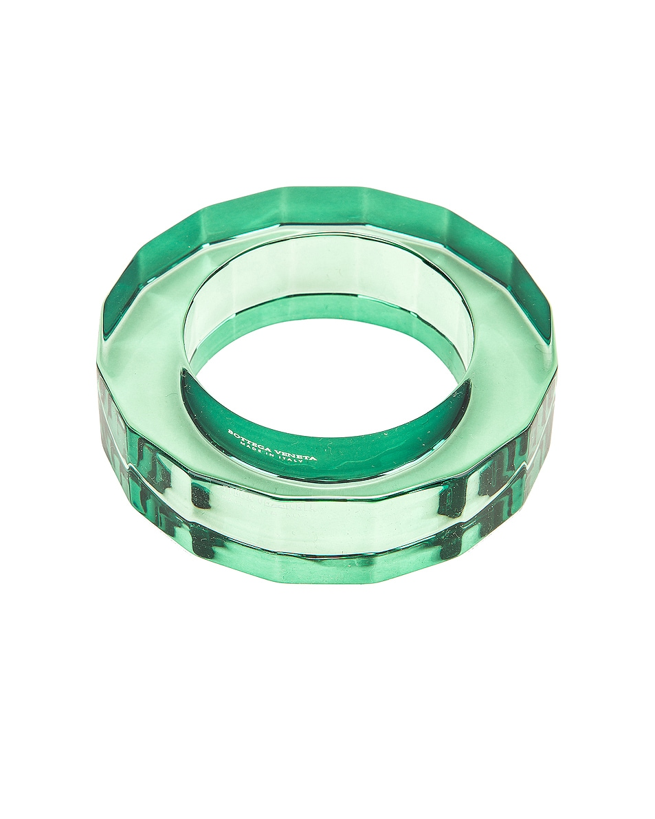 Image 1 of Bottega Veneta Clear Bracelet in Emerald Green