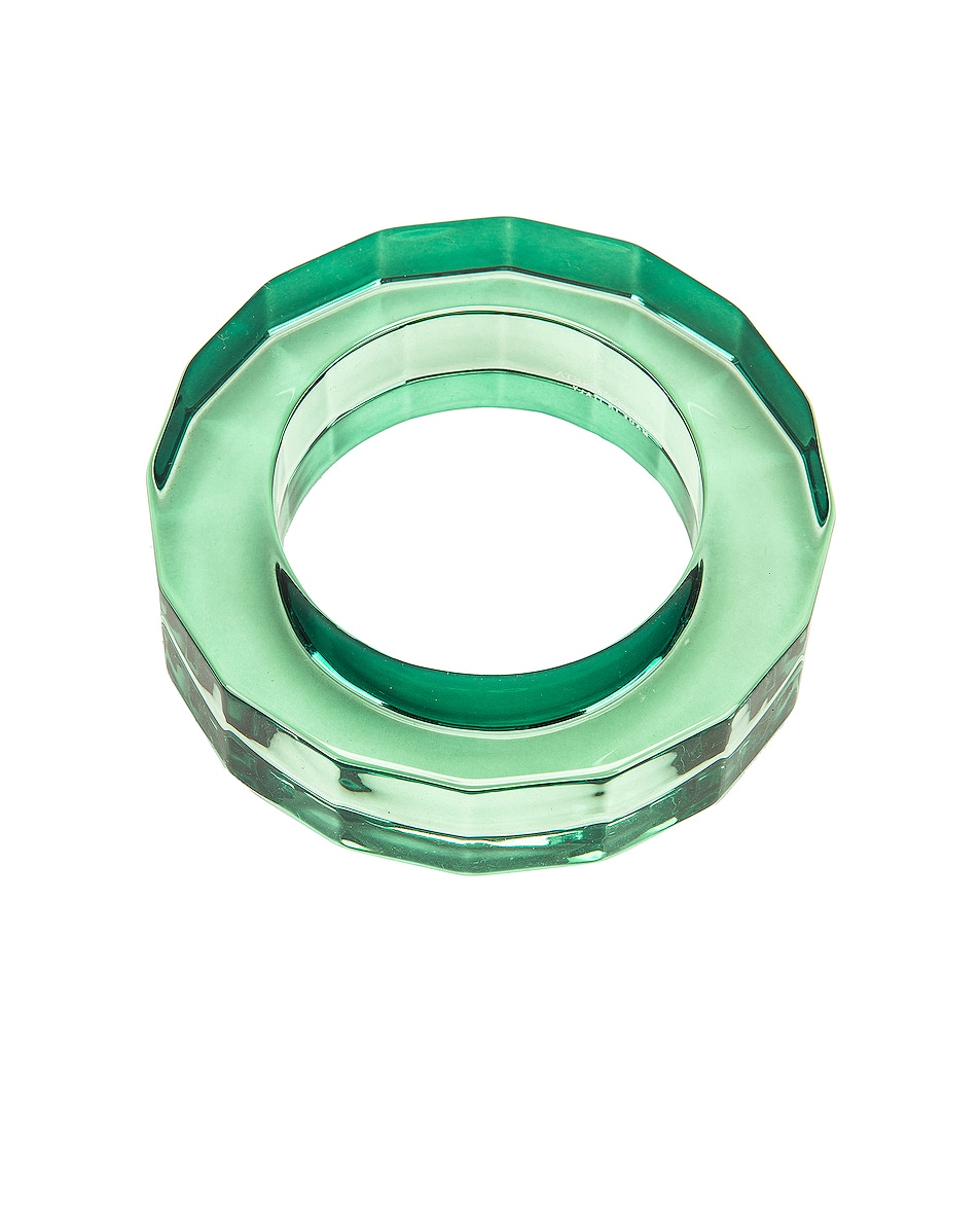 Image 2 of Bottega Veneta Clear Bracelet in Emerald Green