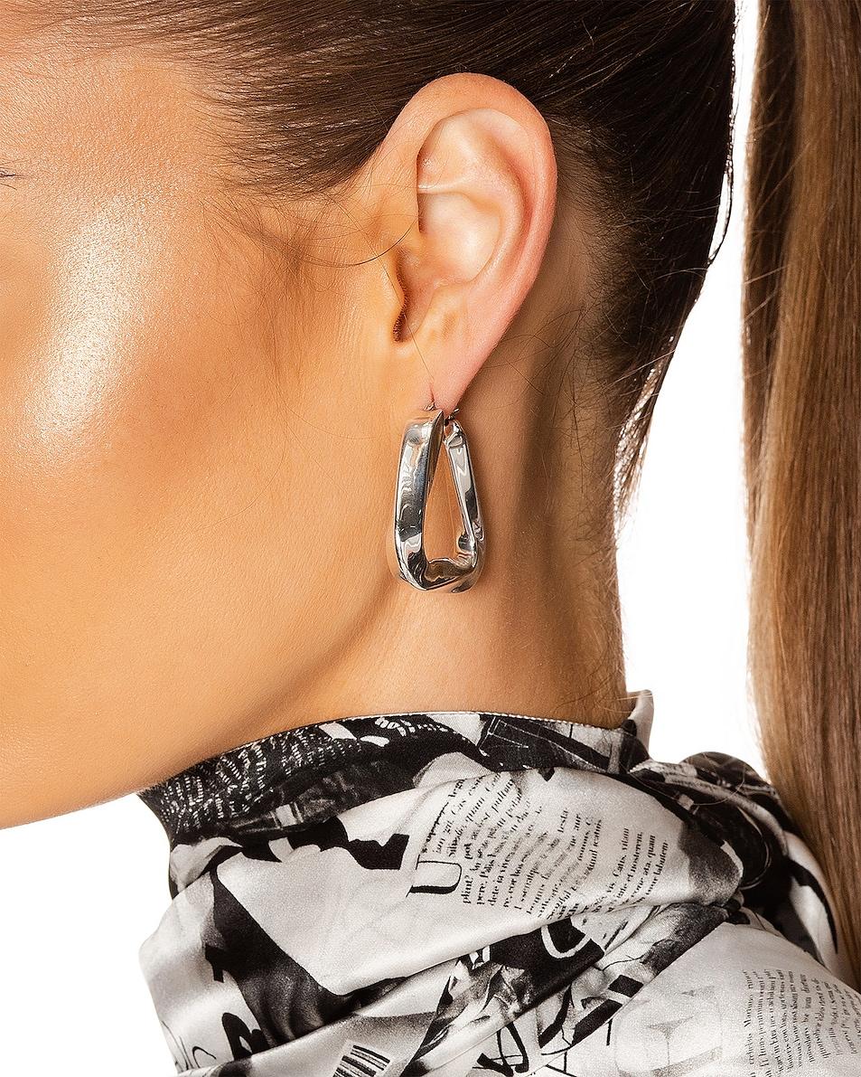 Image 2 of Bottega Veneta Triangle Earrings in Argento Antique