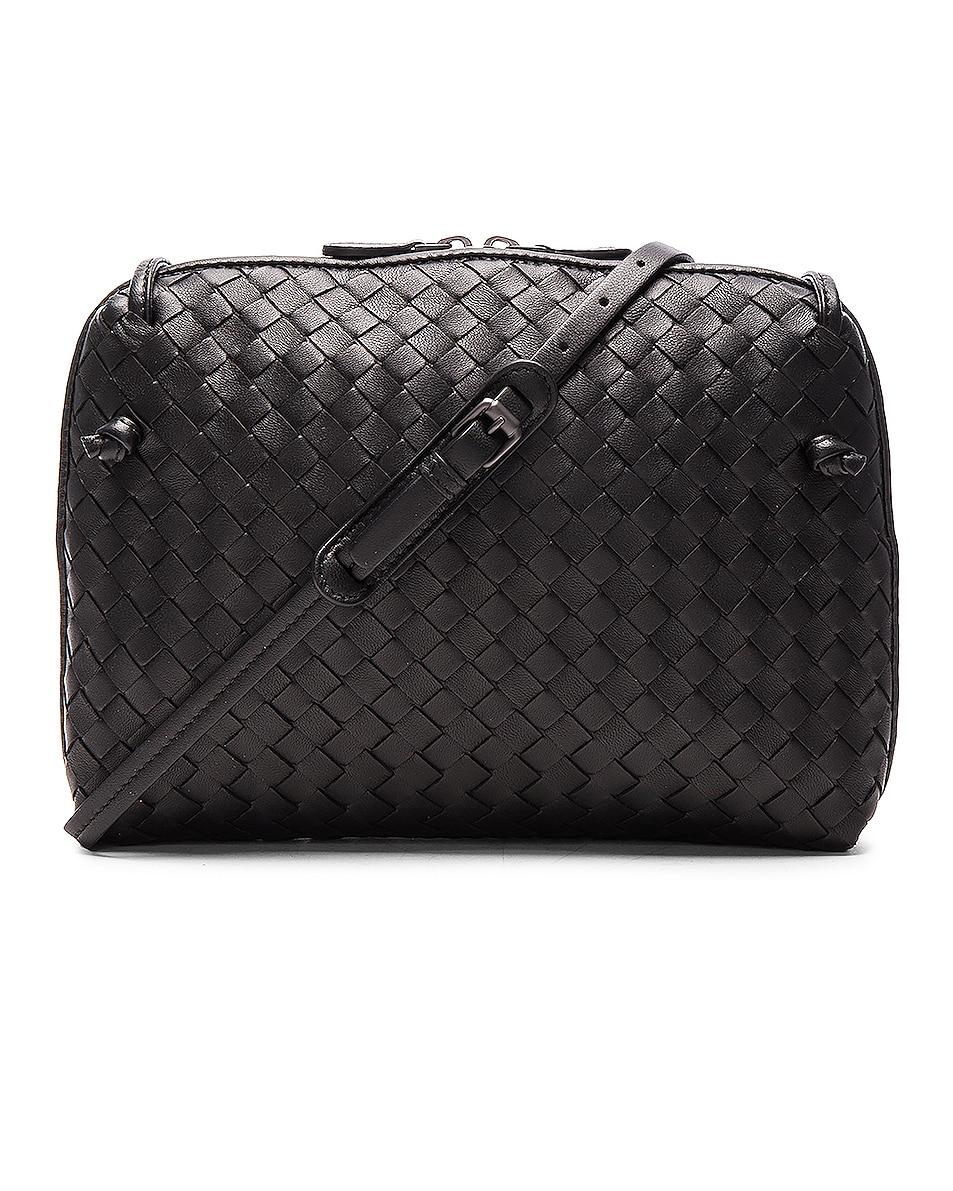 Image 1 of Bottega Veneta Woven Leather Shoulder Bag in Nero