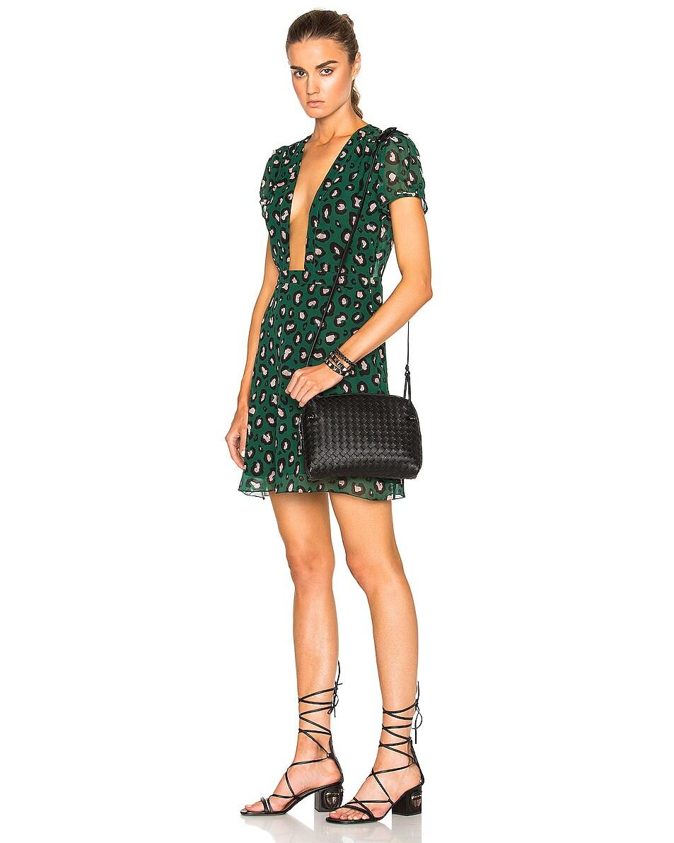 Image 2 of Bottega Veneta Woven Leather Shoulder Bag in Nero