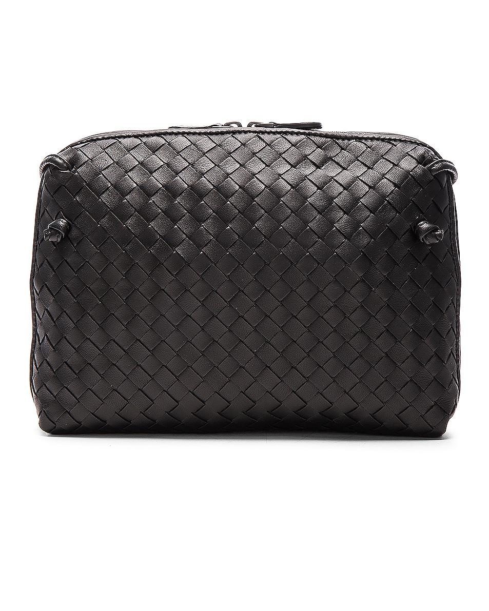 Image 3 of Bottega Veneta Woven Leather Shoulder Bag in Nero
