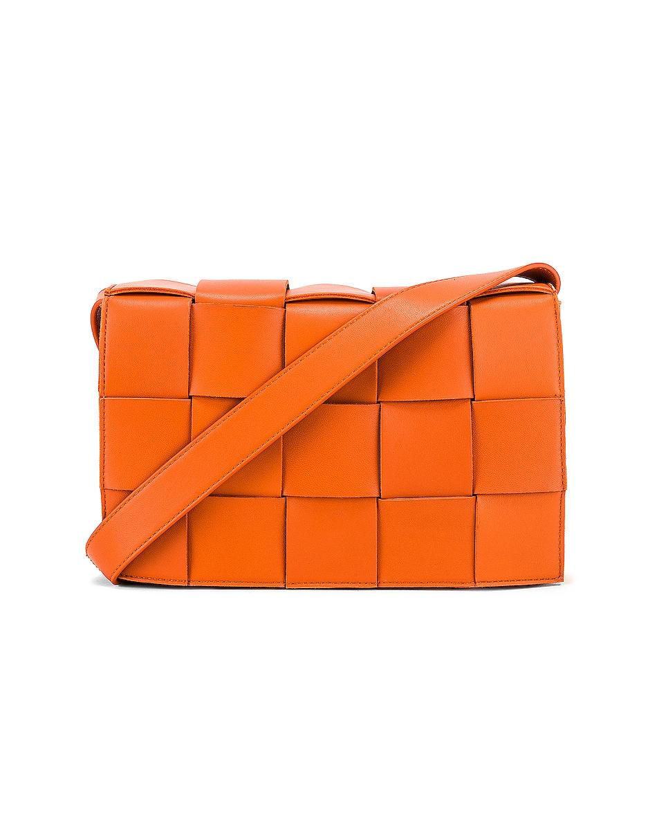 Image 1 of Bottega Veneta Small Woven Cassette Bag in Burned Orange