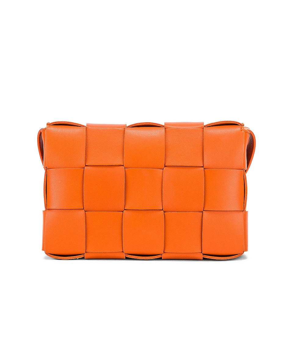 Image 3 of Bottega Veneta Small Woven Cassette Bag in Burned Orange