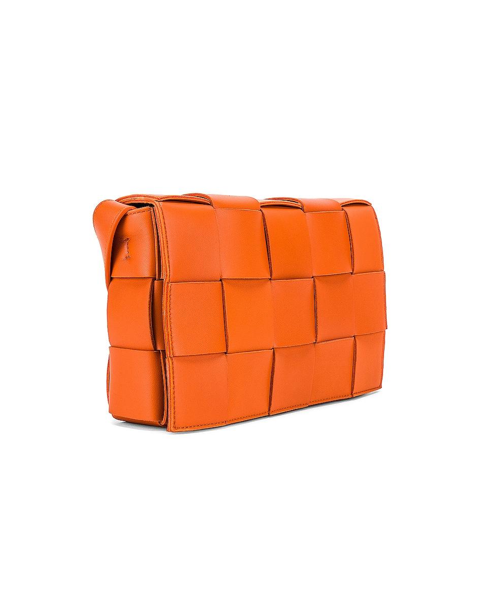 Image 4 of Bottega Veneta Small Woven Cassette Bag in Burned Orange
