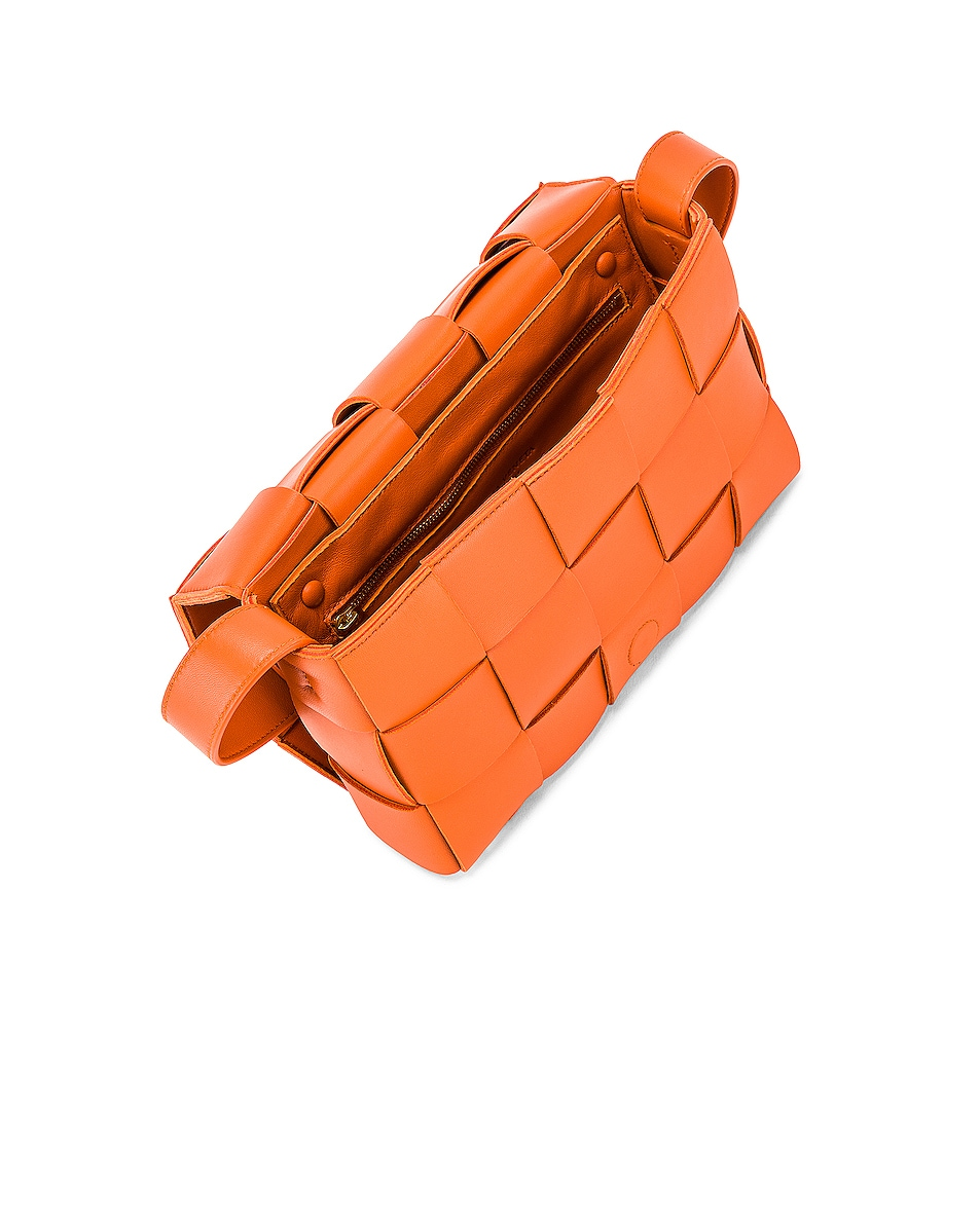 Image 5 of Bottega Veneta Small Woven Cassette Bag in Burned Orange
