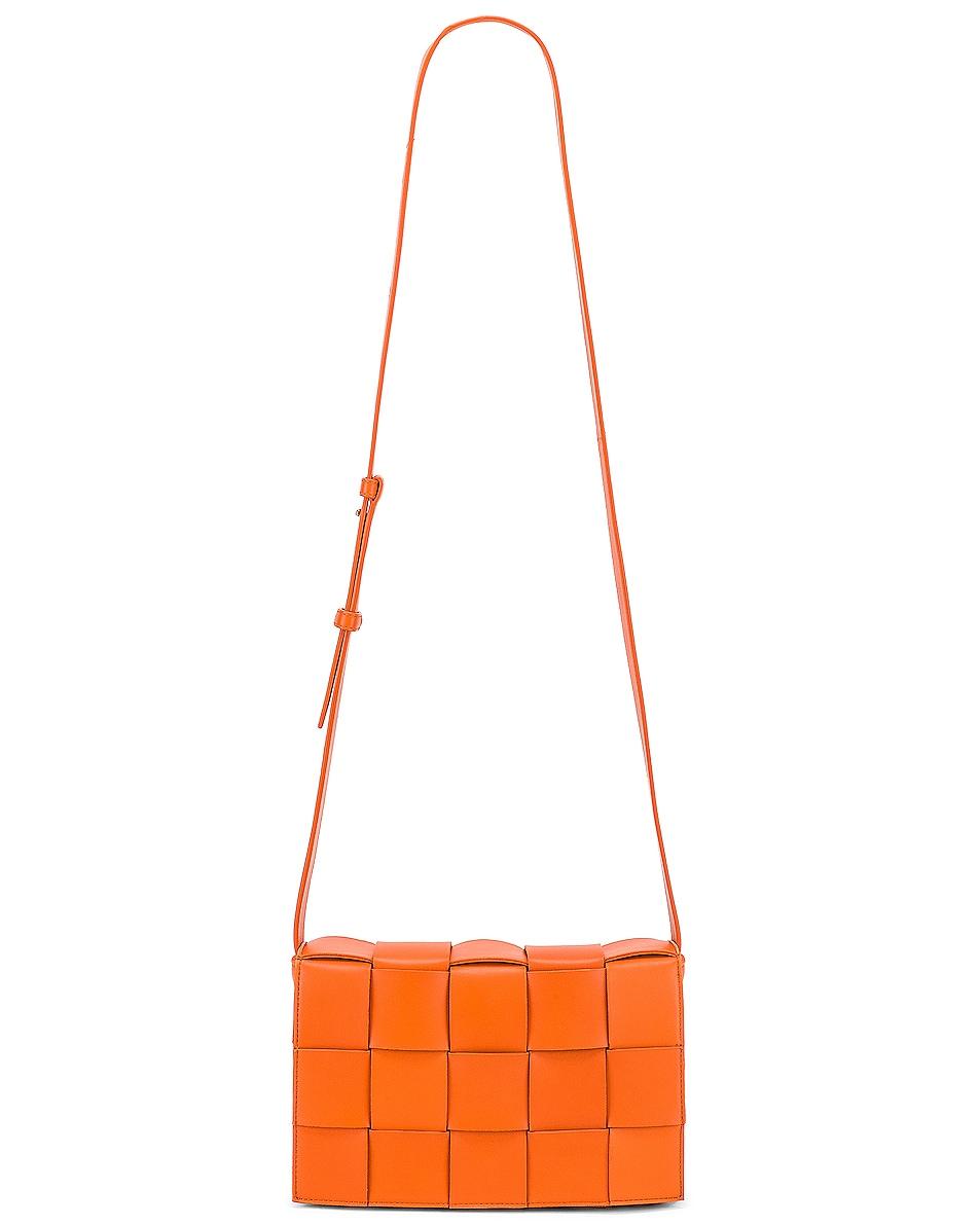 Image 6 of Bottega Veneta Small Woven Cassette Bag in Burned Orange