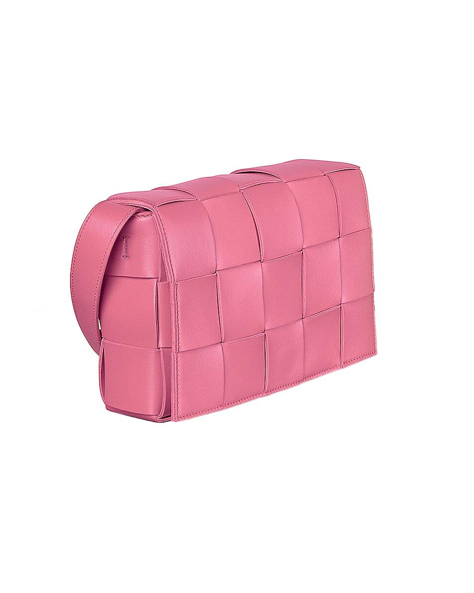 Image 4 of Bottega Veneta Small Woven Cassette Bag in Rosa & Silver