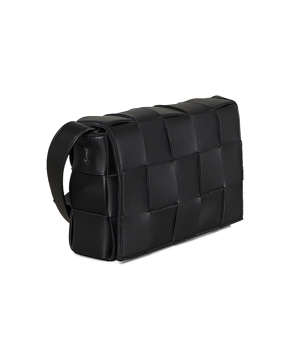 Image 4 of Bottega Veneta Small Woven Cassette Bag in Black & Silver