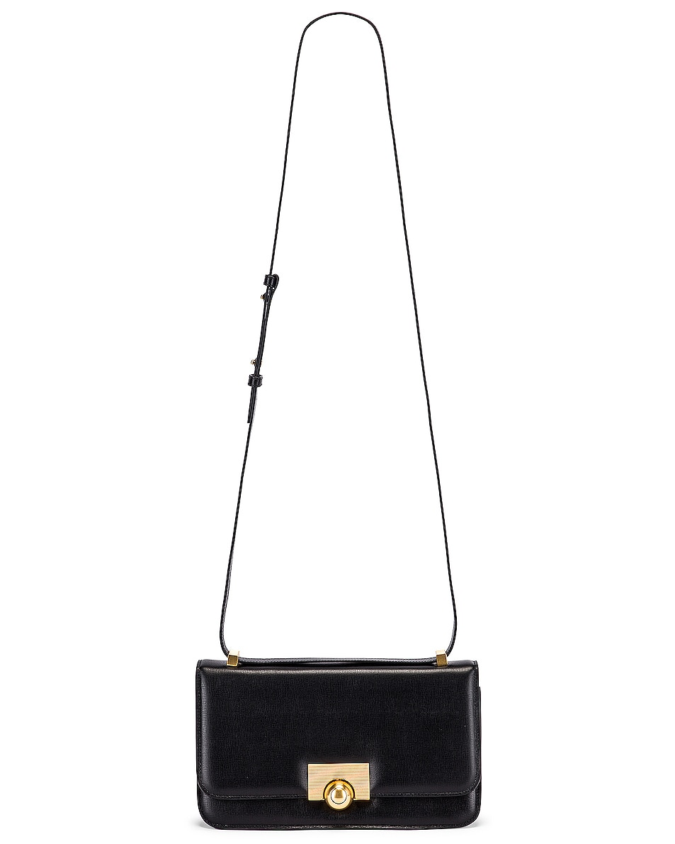 Image 5 of Bottega Veneta Leather Classic Bag in Black & Gold