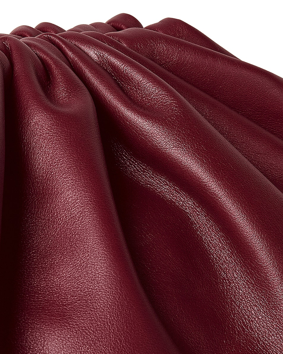 Image 4 of Bottega Veneta The Pouch Clutch in Bordeaux & Gold