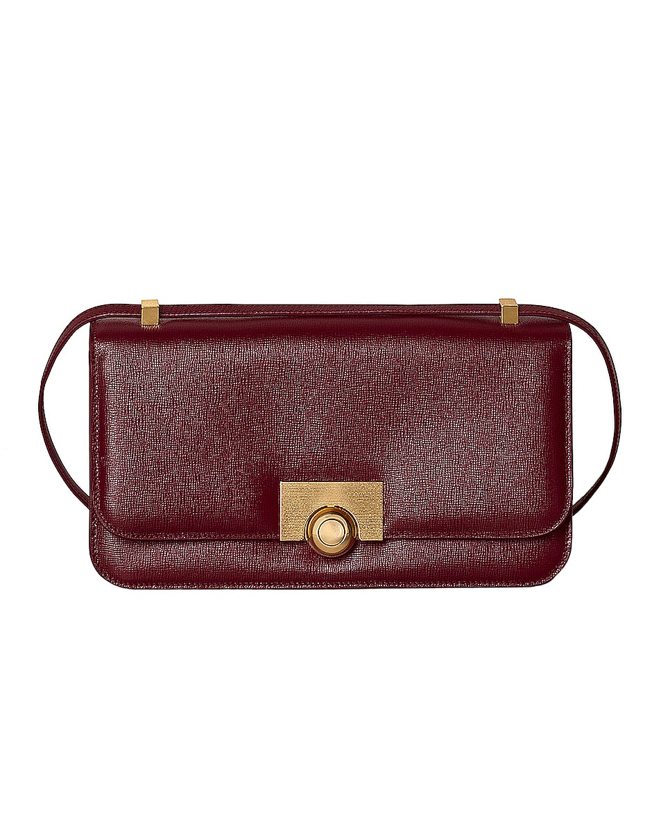 Image 1 of Bottega Veneta Leather Classic Bag in Bordeaux & Gold