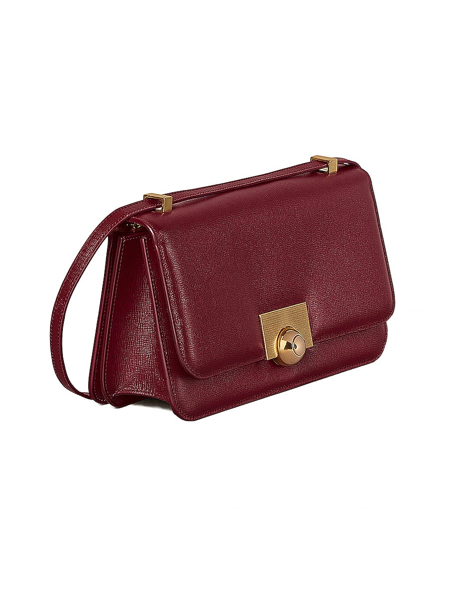 Image 3 of Bottega Veneta Leather Classic Bag in Bordeaux & Gold