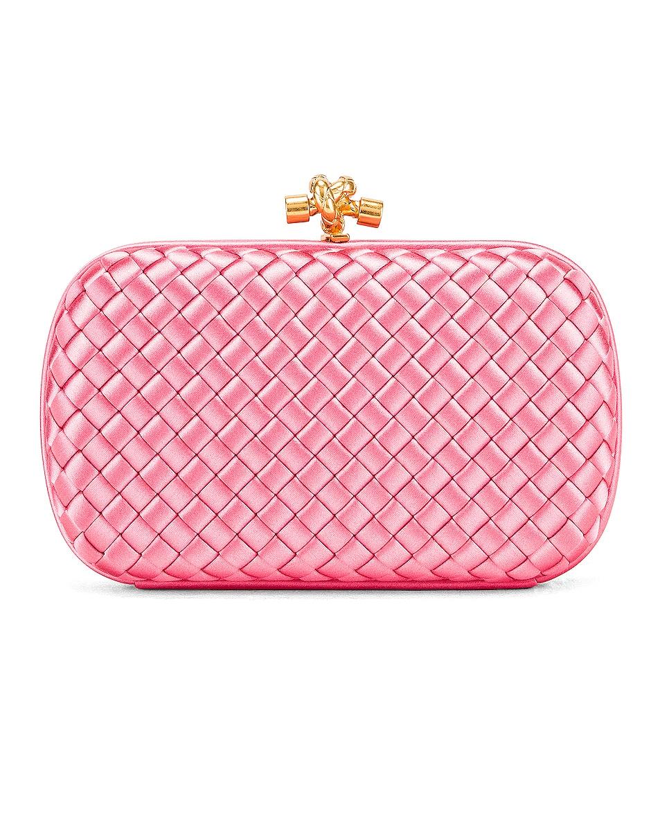 Image 1 of Bottega Veneta Woven Satin Crossbody Bag in Rosa