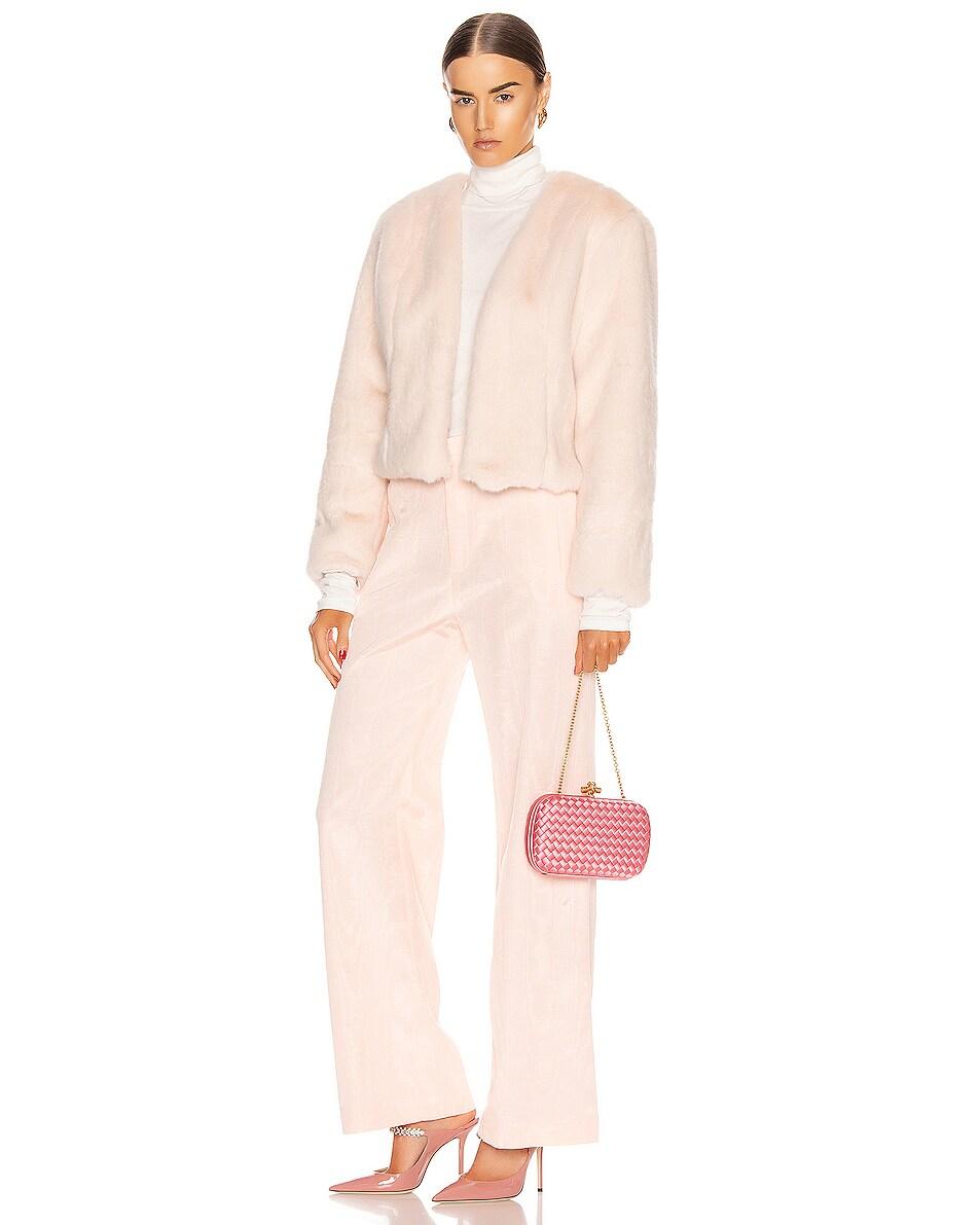 Image 2 of Bottega Veneta Woven Satin Crossbody Bag in Rosa