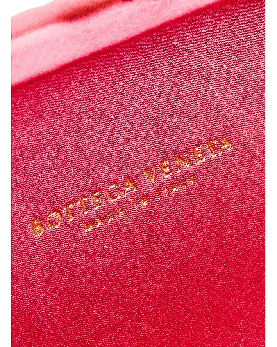 Image 7 of Bottega Veneta Woven Satin Crossbody Bag in Rosa